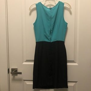 Mystic Dresses - ModCloth Mystic Teal Black Bow Sleeveless Dress S